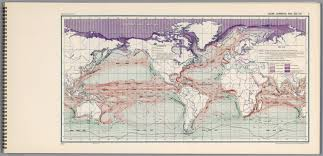 Map Of Ocean Currents Ocean Current And Sea Ice 3 David Rumsey Historical Map Collection