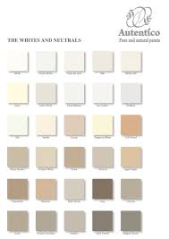 white and neutral colour chart by autentico to find out more to