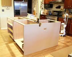 how to install kitchen island kitchen island base cabinets creating an kitchen island pink