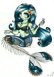 tattoo ideas zombie zombie mermaid tattoos zombie mermaid by thaliaangel91 on