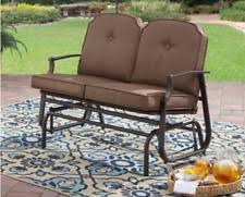 Garden Loveseat Havana Bronze Twin Seat Outdoor Glider Patio Steel And Aluminum