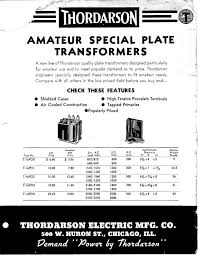 antique transformer and parts catalogs and specifications
