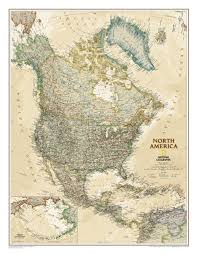 United States Wall Map Laminated by Executive North America Wall Map Northamerica Continent
