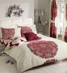 incredible bedroom curtains and matching bedding including bed