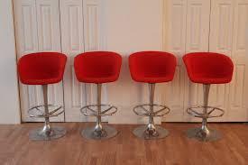 modern orange bar stools italian mid century modern orange counter barstools an orange