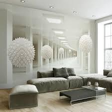 papier peint bureau moderne simple 3d stéréo espace abstrait blanc sphère murale