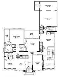 one story floor plans fascinating 5 bedroom one story floor plans ideas also house two