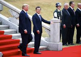 the latest trump xi having tea at start of china visit