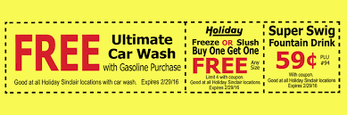 holiday coupon holiday oil coupon sinclair oil corporation