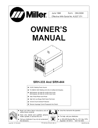 miller electric 333 owner s manual