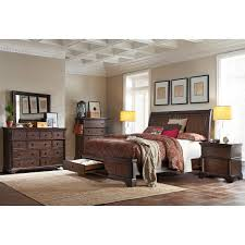 Bedroom Sets With Hidden Compartments Brownstone 6 Piece Queen Storage Bedroom Set