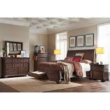 Bedroom Sets With Secret Compartments Brownstone 6 Piece Queen Storage Bedroom Set