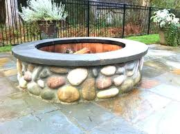 Firepit Rocks River Rock Pit Plantsafemaintenance