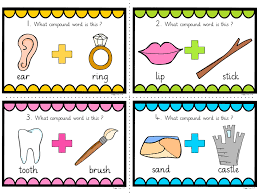 words cards 20 compound words task cards spag spellings by