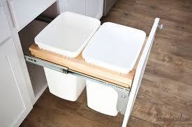 Kitchen Trash Cabinet Pull Out How To Install A Pull Out Garbage Honeybear Lane