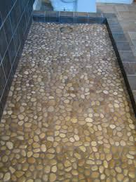 bathroom floor tile designs river rock tile for shower floor roselawnlutheran installing wood