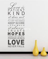 love is patient kind fashion living room removable wall murals see larger image