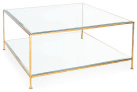 gold glass coffee table gold trim coffee table houzz