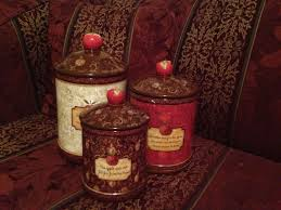 cracker barrel apple collection 3 canister set by wendy bentley