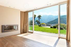 window roomy interior home design by adding large windows and