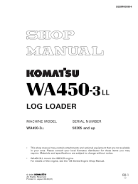 komatsu wheel loaders wa450 3 shop manual nut hardware