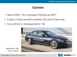 mercedes c class fuel economy fuel economy state of the industry erin sunde industry analyst