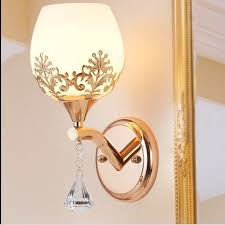 modern led crystal glass wall lamps bedroom living room restaurant