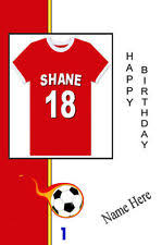 rugby birthday card personalised ebay