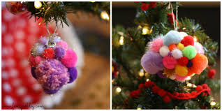 diy fancy pom pom ornaments fancy