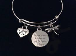 godmother bracelet the between a godmother and godson is forever expandable