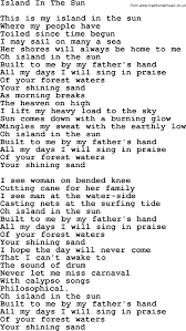 joan baez song island in the sun lyrics