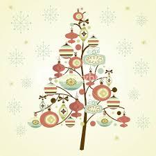 Beautiful Christmas Tree Illustration Christmas Card Royalty Free