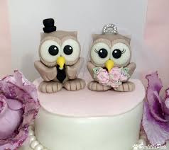 owl cake toppers owl wedding cake topper with tiara and banner for names