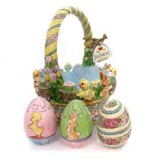 jim shore easter baskets jim shore tisket a tasket easter basket easter figurine