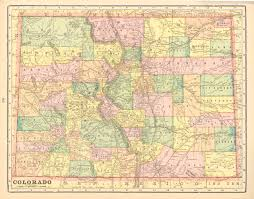 Vintage Maps Antique Maps Of Colorado
