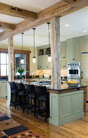 Rustic Kitchen Islands Best 25 Modern Rustic Kitchens Ideas Only On Pinterest Rustic
