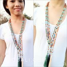natural bead necklace images Ganitri rudraksha organic natural beads tassels necklace ganitri jpg