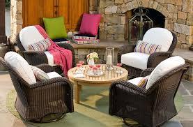 Patio Furniture With Sunbrella Cushions Outdoor Wicker Furniture With Sunbrella Cushions Canvas Orange
