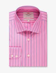 men u0027s pink u0026 white multi stripe slim fit dress shirt with contrast