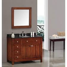 42 Bathroom Cabinet by Ove Decors Adrian 42 Inch Single Sink Bathroom Vanity With Granite