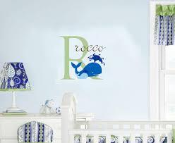 nursery wall decor etsy palmyralibrary org baby name nautical wall decal whale ocean nursery decor 2400