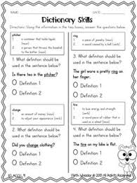7 best images of using dictionary guide words worksheet 2nd