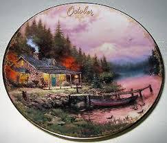 kinkade plates ebay