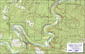 Buffalo Map Buffalo River Trail Maumee Section Free Detailed Topo Map