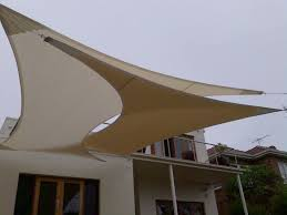 Shades For Patio Covers This Is A Creative Use Of Sail Awnings For Shading Large Areas In