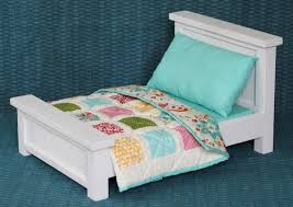 how to make american girl doll bed doll bed with bedding patchwork quilt blog homeandawaywithlisa