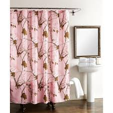 Purple And Brown Shower Curtain Realtree 72 In Shower Curtain In Pink Camo Sc07989pkrt The Home