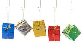tiny present decorations royalty free stock photography
