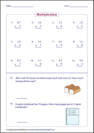 basic multiplication worksheets