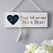 Wedding Countdown Wedding Countdown Plaque By French Grey Interiors